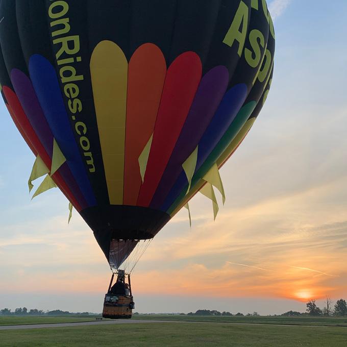 Romantic Hot Air Balloon Ride