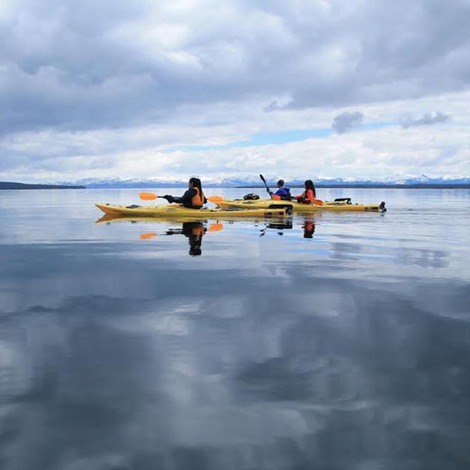 Kayak in Yellowstone Lake