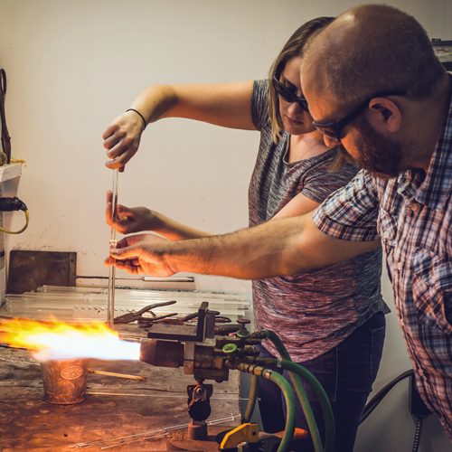 Glass Blowing and Pendant Making Class