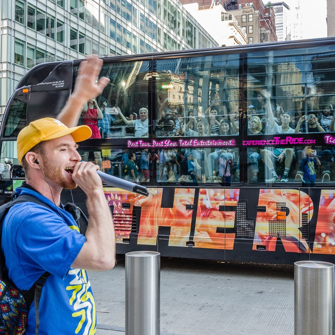 The RIDE Bus tour in New York City