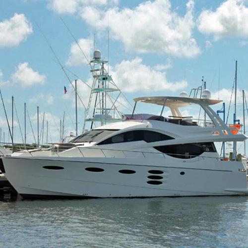 Luxurious 78 Numarine Yacht in Bayshore Landings Marina Miami