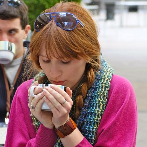 Drinking Coffee at Napa Food Tour in San Francisco