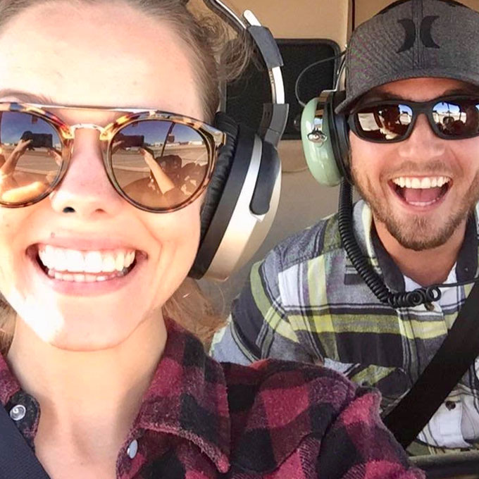 Happy Passengers During Scenic Helicopter Tour in Florida