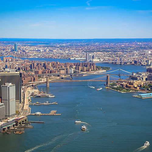 Hudson River from Helicopter Tour in New York
