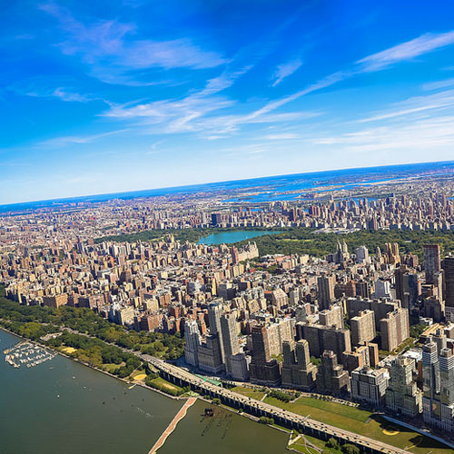 View of New York City from Helicopter Tour