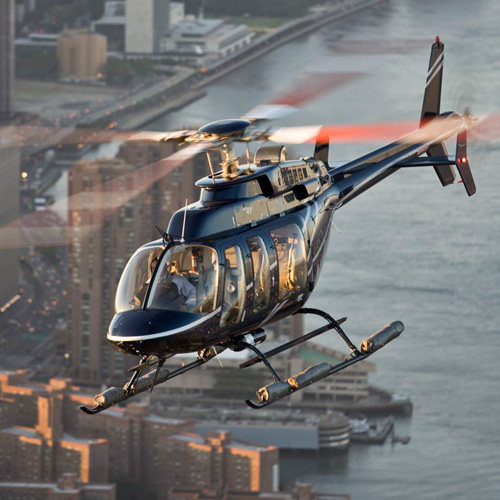 Helicopter in Flight in New York