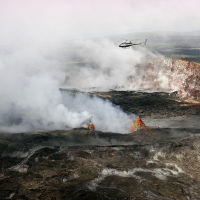 Flying Over Kilauea