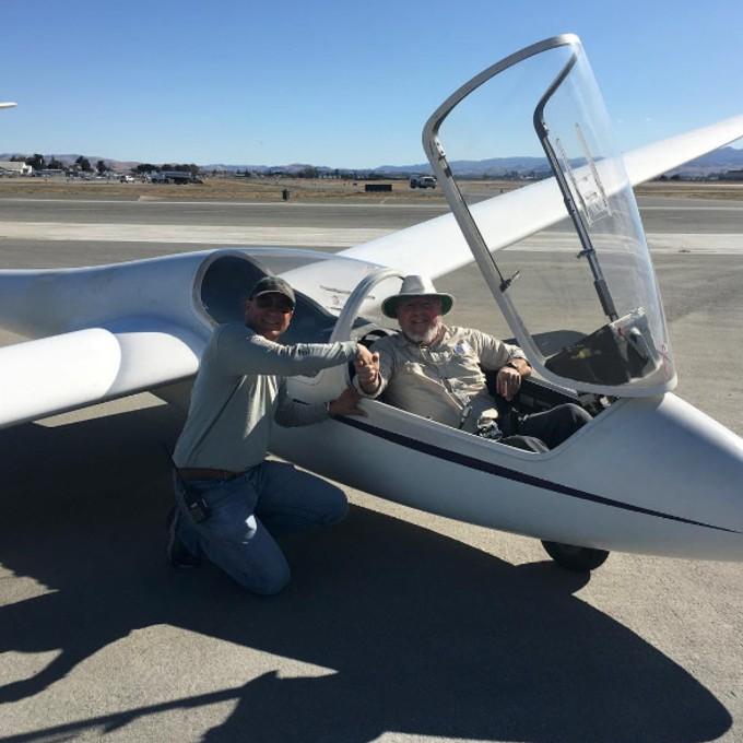 Scenic Glider Ride over San Andreas Fault Line