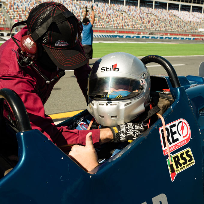 Ride as a passenger in an Indy Car