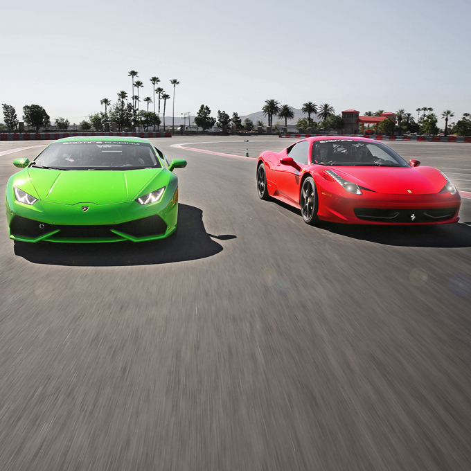 Race a Ferrari and Lamborghini in Las Vegas
