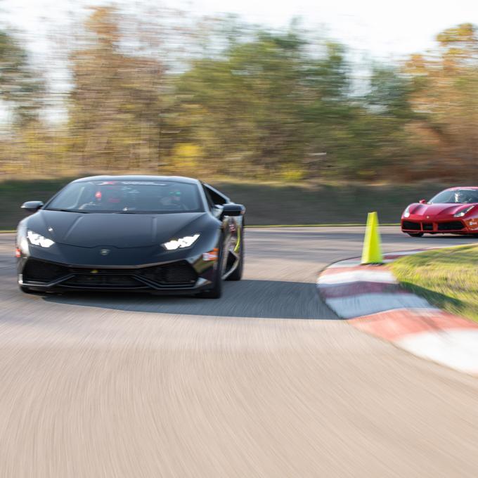 Race a Lamborghini Huracan and Ferrari 488 GTB