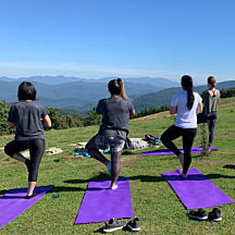 Mountain Yoga over Asheville
