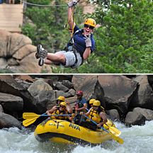 Whitewater Rafting & Ziplining in Denver