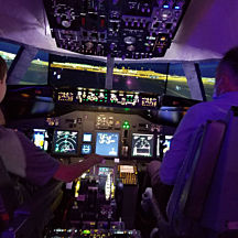 1 Hour Flight in a Boeing 737 Flight Simulator