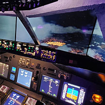 2 Hour Flight in a Boeing 737 Flight Simulator