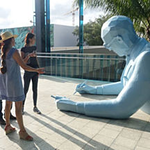 Sculpture During Food Tour near Fort Lauderdale