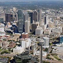 Scenic Airplane Flight over Dallas