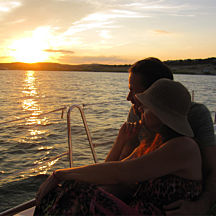 Couple on Lake Travis Dinner Cruise