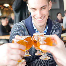 Cheers During Seattle Chef Guided Tour