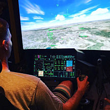 60 Minute Flight in a Fighter Jet Flight Simulator