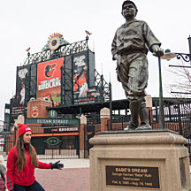 Babe Ruth Statue during Baltimore City Tour