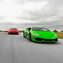 Italian Supercar Experience at Auto Club Speedway near LA