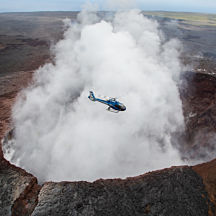 Helicopter Flight over the Big Island