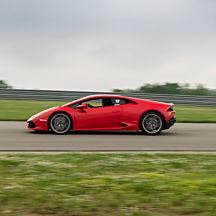 Race a Lamborghini at Charlotte Motor Speedway