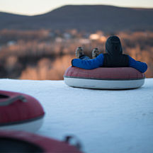 Snow Tubing Wilmot Mountain outside Chicago