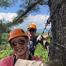 Ziplining Nantahala Gorge