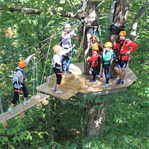 Sky Bridge on Zip Line Tour in Columbus