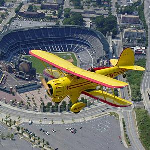 Biplane flight over Atlanta