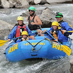 Family Rafting in Idaho Springs