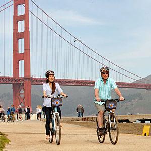 Bike over the Golden Gate Bridge