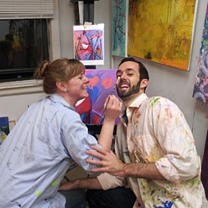Couple Having Fun with Paint