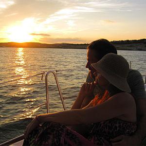 Couple on Lake Travis Dinner Cruise