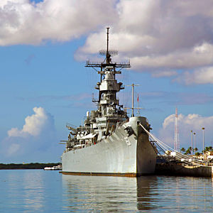 USS Missouri in Pearl Harbor