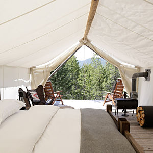 Deluxe Safari Tent near Glacier National Park