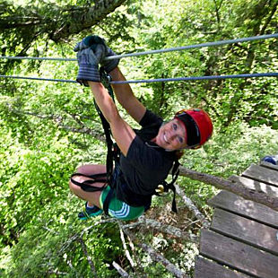 Zip Through the Trees in Lansing