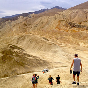 Hiking in Death Valley