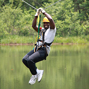 Ziplining Experience on the Chattooga River