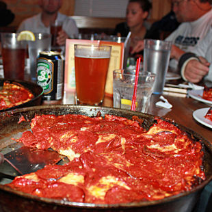 Deep Dish Pizza in Chicago