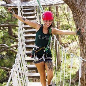 Ziplining near Austin