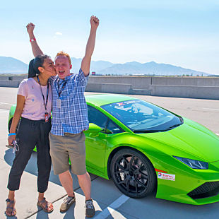 Race a Lamborghini at New Hampshire Motor Speedway