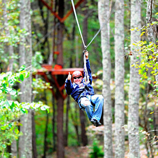 Zip Line near Mammoth Cave, Kentucky