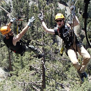 Mountain View Zipline Tour in Wrightwood, CA