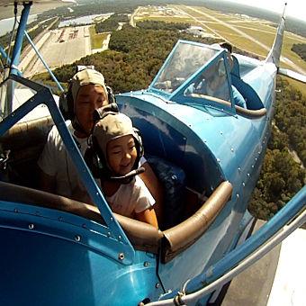 Historic Biplane Flight from Merritt Island, FL