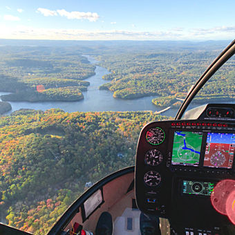 Helicopter Ride over Hudson Valley from Westchester, NY