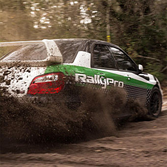 Rally Driving in  2WD Rally Car