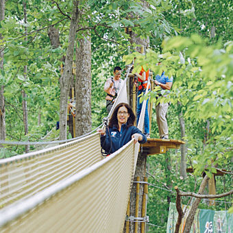 Treetop Adventure near Washington DC